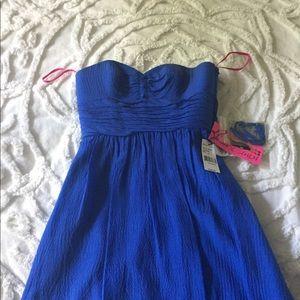 Betsey Johnson Strapless Mini Dress